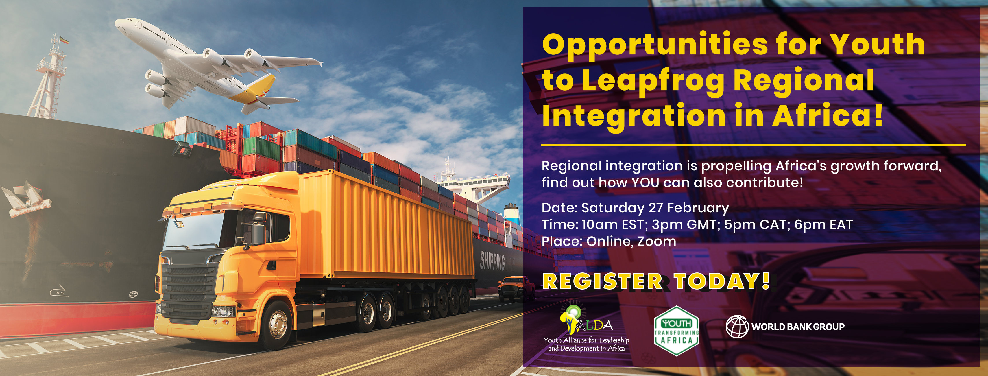 Opportunities for Youth to Leapfrog Regional Integration in Africa